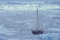Northabout in ice